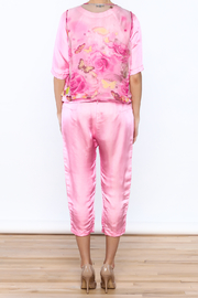 Dawn Sunflower Pink Silk Matching Set - Back cropped
