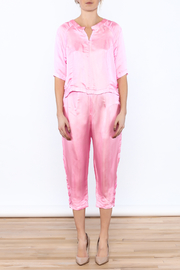 Dawn Sunflower Pink Silk Matching Set - Side cropped