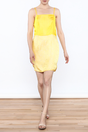 Dawn Sunflower Short Spaghetti-Strap Dress And Mini Jacket Set - Front full body
