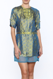 Dawn Sunflower Silk Floral Dress - Front cropped
