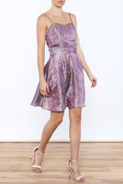 Dawn Sunflower Silk Fit And Flare Dress - Front full body