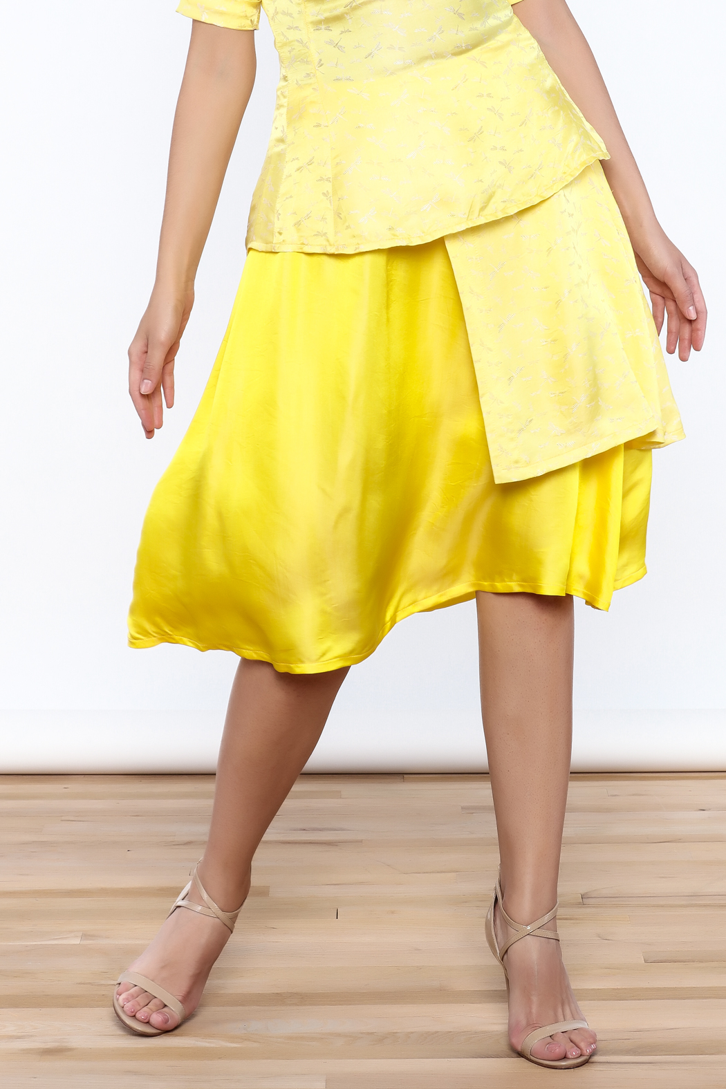 Dawn Sunflower Bright Yellow Skirt - Front Cropped Image