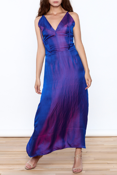 Dawn Sunflower Sleeveless Silk Long Dress - Product List Image