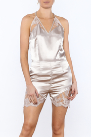 Dawn Sunflower Sexy Champagne Romper - Product Mini Image