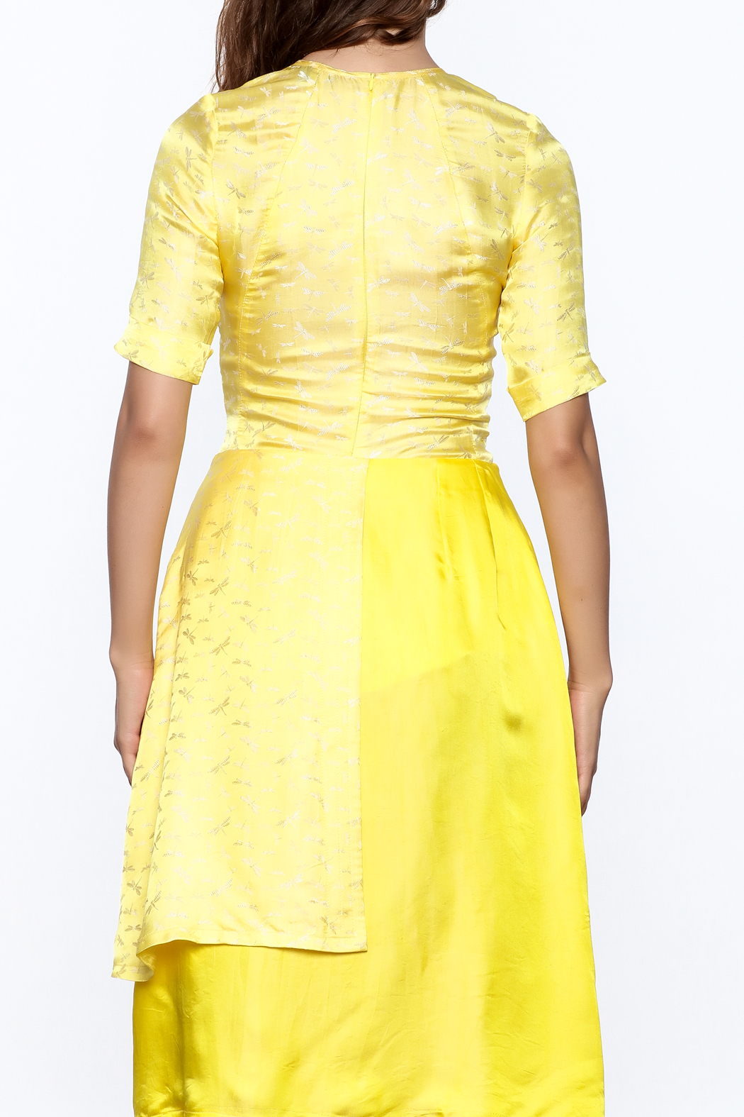 Dawn Sunflower Bright Yellow Top - Back Cropped Image