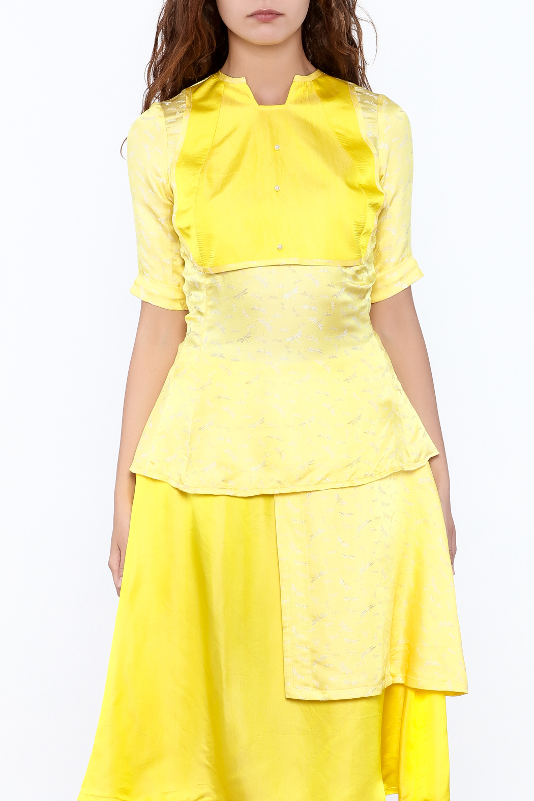 Dawn Sunflower Bright Yellow Top - Front Full Image