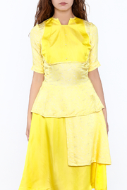Dawn Sunflower Bright Yellow Top - Front full body
