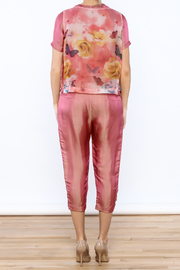 Dawn Sunflower Pink Floral Matching Set - Back cropped