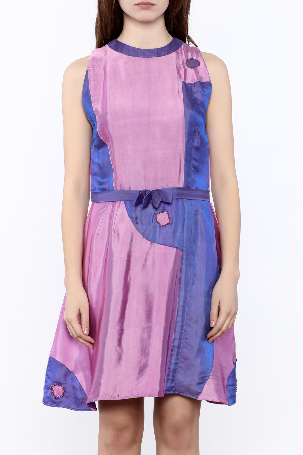 Dawn Sunflower Yin Yang Dress - Side Cropped Image
