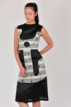 Dawn Sunflower Guitar Abstract Dress - Product List Image