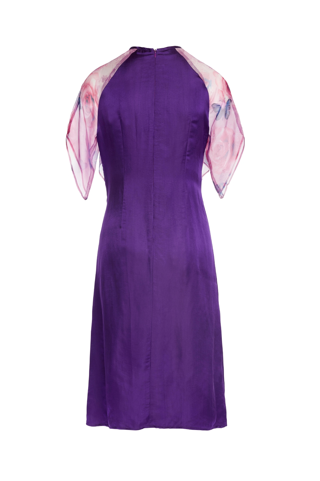 Dawn Sunflower Purple Midi Dress - Front Full Image