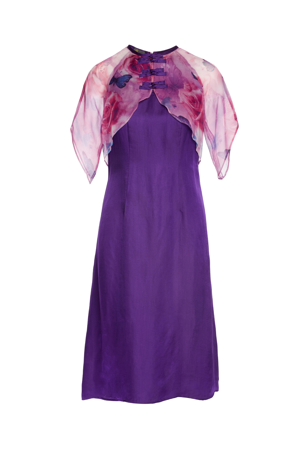 Dawn Sunflower Purple Midi Dress - Front Cropped Image