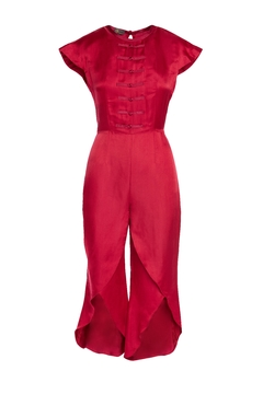 Shoptiques Product: Red Silk Jumpsuit