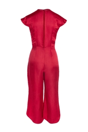 Dawn Sunflower Red Silk Jumpsuit - Front full body