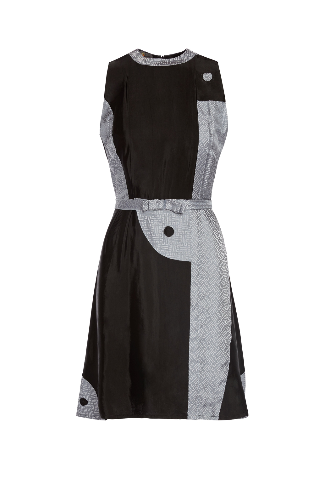 Dawn Sunflower Yin Yang Dress - Front Cropped Image