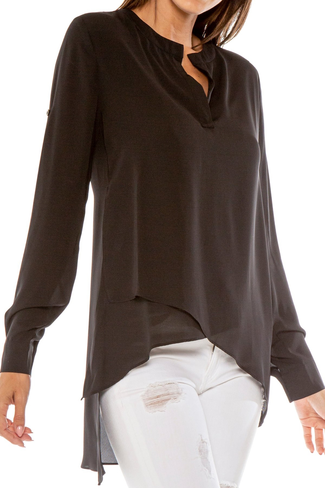 love token Dawson Hi Lo V Neck Blouse - Main Image