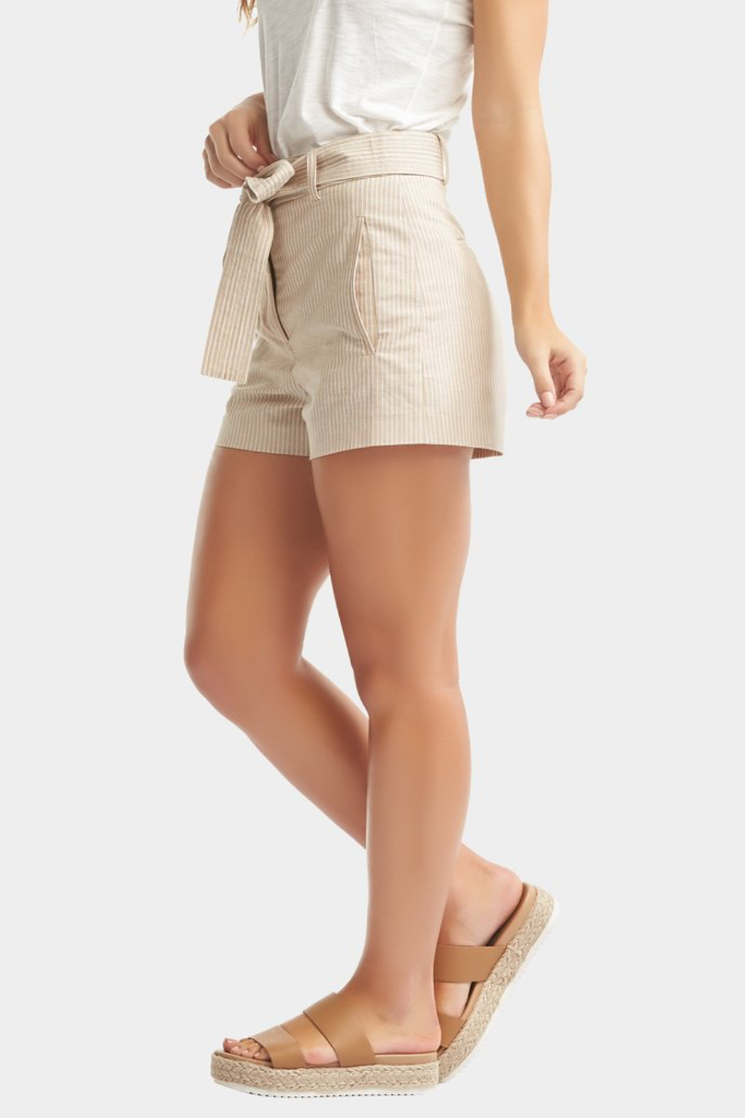 Tart Collections Dax Linen Shorts - Front Full Image