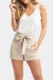 Tart Collections Dax Linen Shorts - Front cropped