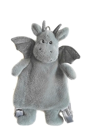 Mon Ami 'DAX' SAGE DRAGON PLUSH BACKPACK - Front cropped