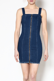 day and night Fitted Denim Dress - Product Mini Image