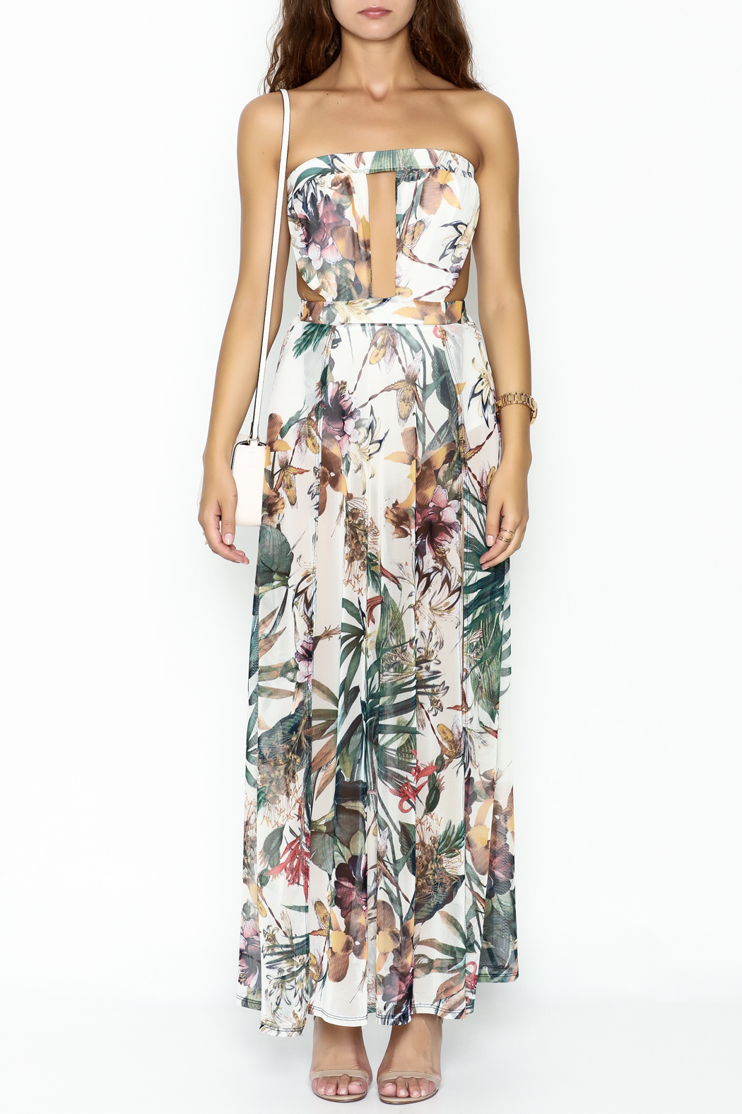 day and night Floral Dress Romper - Front Full Image