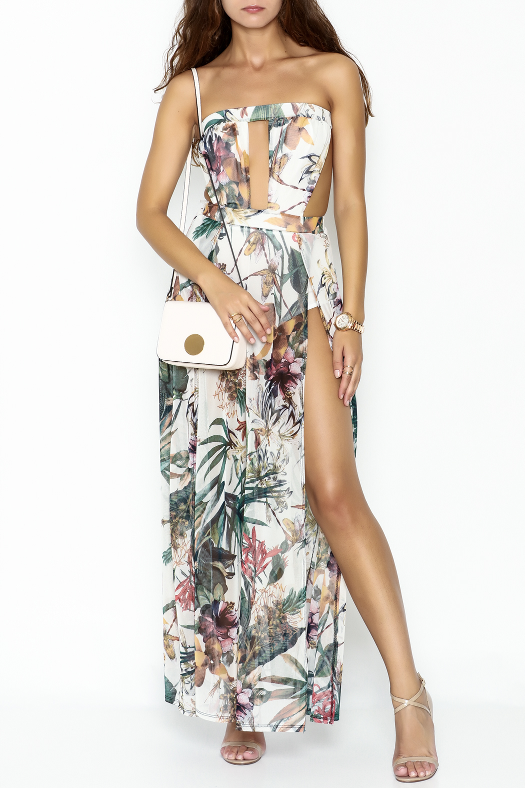 day and night Floral Dress Romper - Main Image