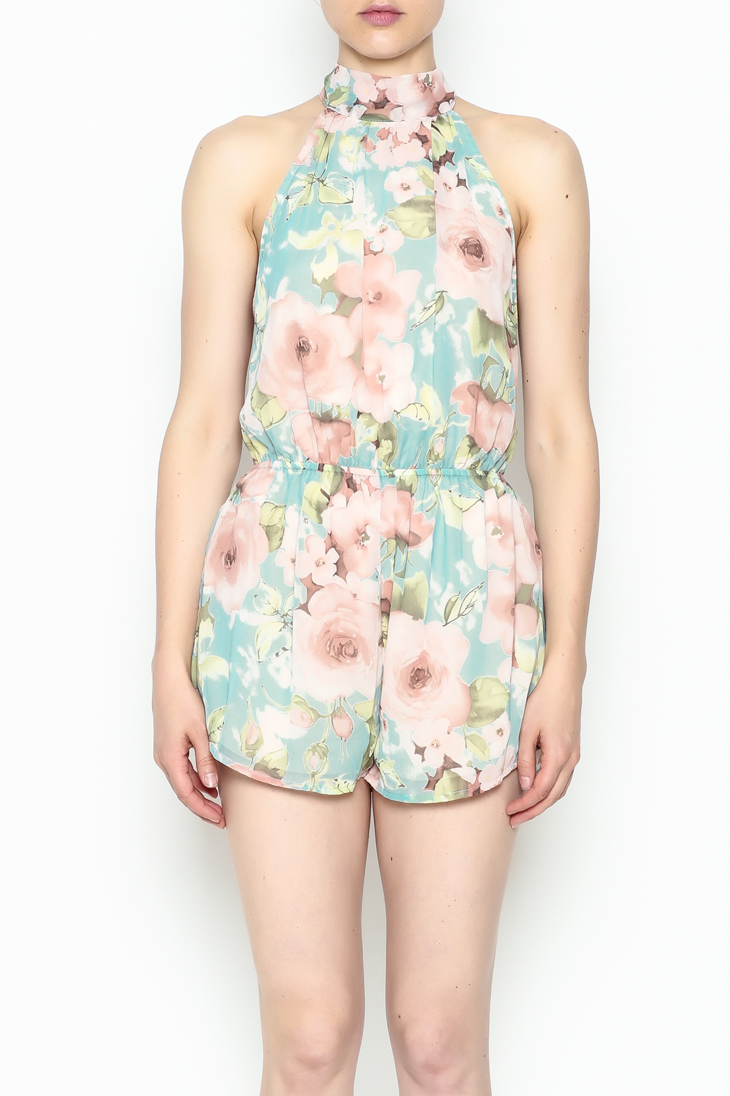 day and night Floral Print Romper - Front Full Image