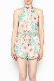 day and night Floral Print Romper - Front full body