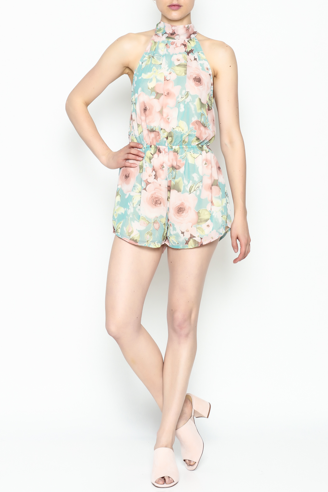 day and night Floral Print Romper - Side Cropped Image