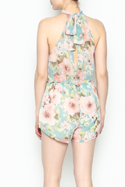 day and night Floral Print Romper - Back cropped