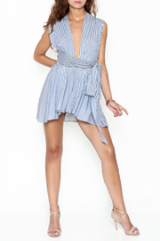 day and night Striped Wrap Romper - Product Mini Image