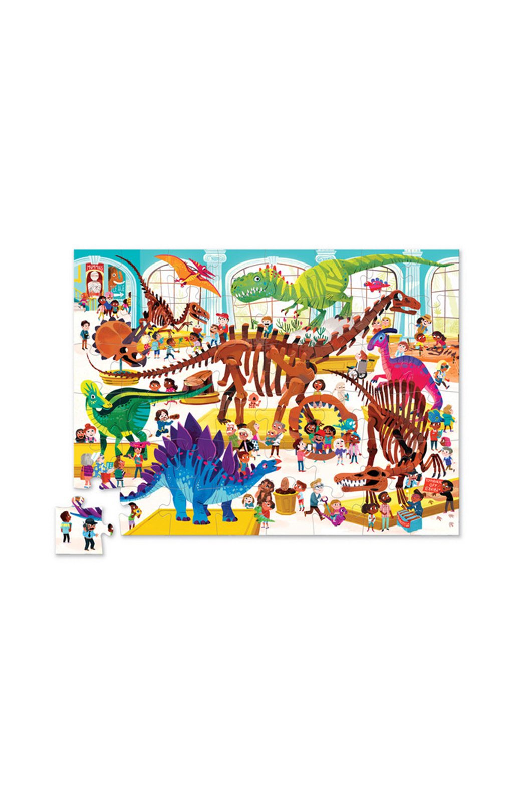Crocodile Creek Day At The Museum 48 Piece Puzzle - Front Full Image