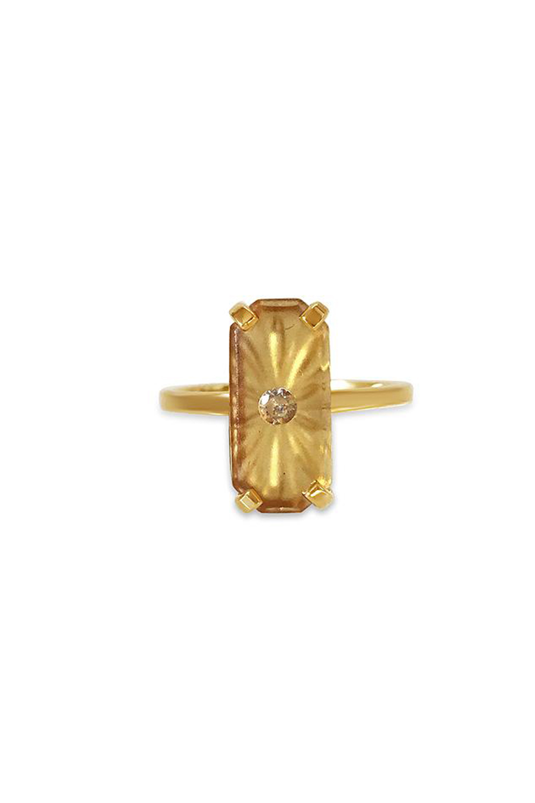 Erin Fader Jewelry Day Dreamer Studded Topaz Ring - Main Image