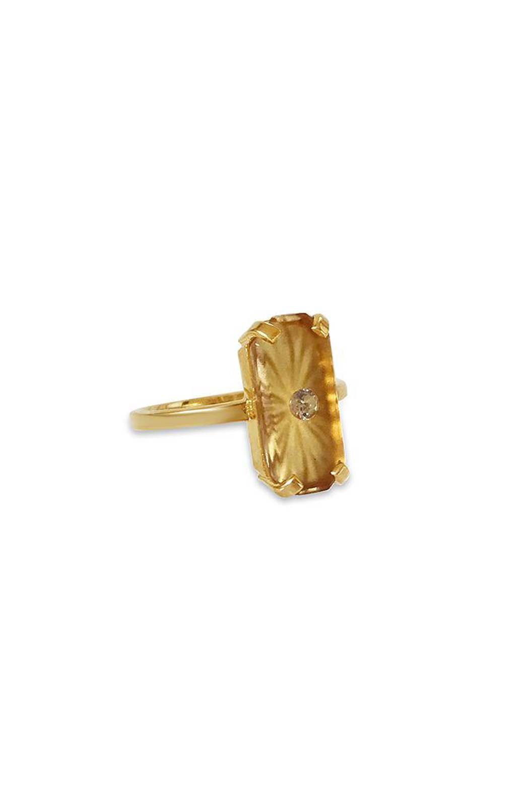 Erin Fader Jewelry Day Dreamer Studded Topaz Ring - Front Full Image