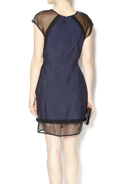 C/MEO COLLECTIVE Navy and Sheer Dress - Alternate List Image