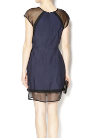 C/MEO COLLECTIVE Navy and Sheer Dress - Back cropped