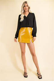 Glam Day to Night V-neck Blouse - Back cropped