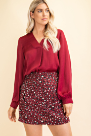 Glam Day to Night V-neck Blouse - Front cropped