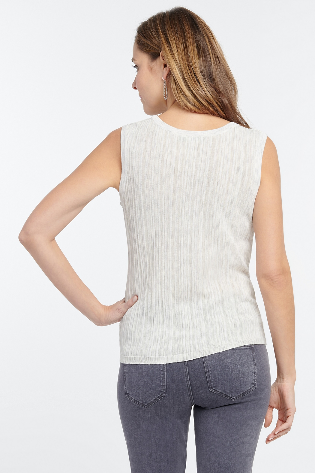 Nic + Zoe Day Trip Sweater Tank - Side Cropped Image