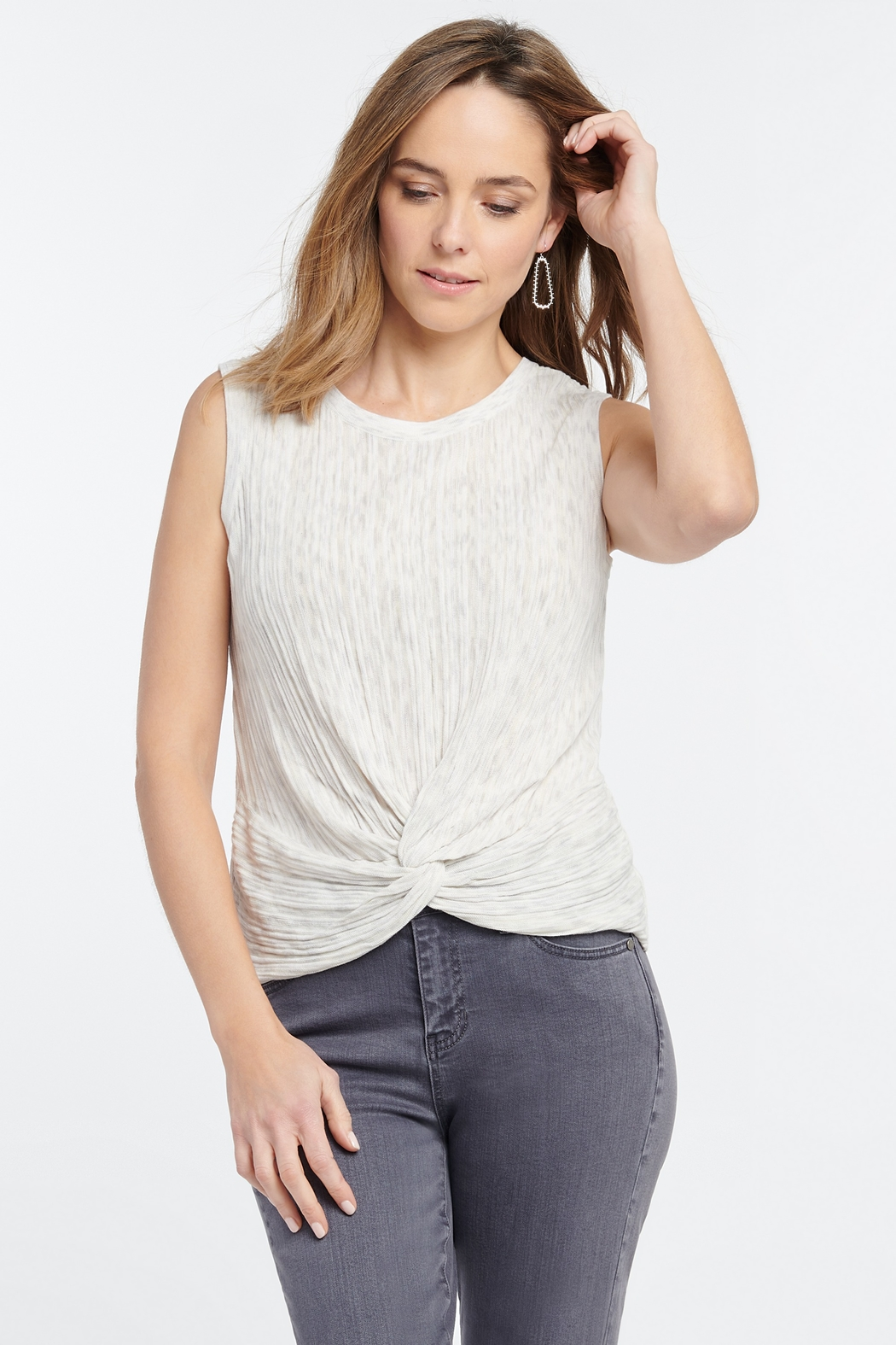Nic + Zoe Day Trip Sweater Tank - Front Cropped Image