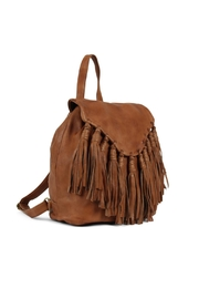 Day & Mood Leather Cognac Backpack - Front full body