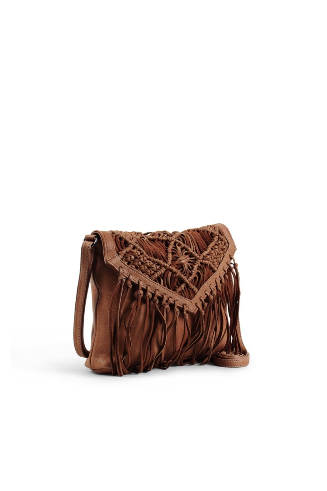 Day & Mood Tassel Leather Crossbody Bag - Front Full Image