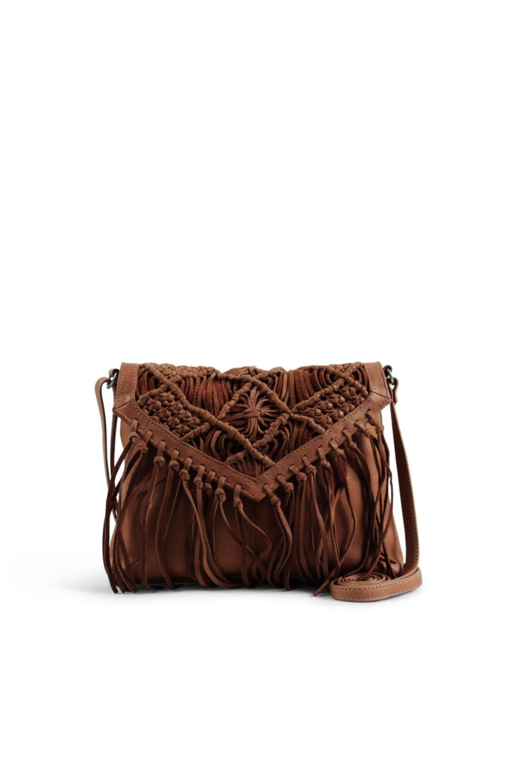 Day & Mood Tassel Leather Crossbody Bag - Front Cropped Image