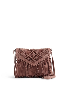 Shoptiques Product: Tassel Leather Crossbody Bag