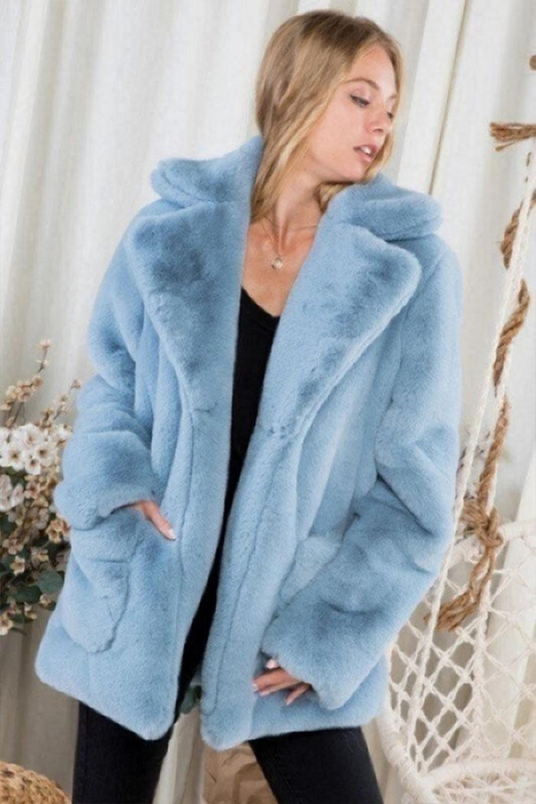 Day & Night Faux Fur Coat - Front Full Image