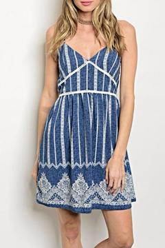 day and night Blue White Dress - Product List Image