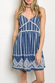 day and night Blue White Dress - Front cropped