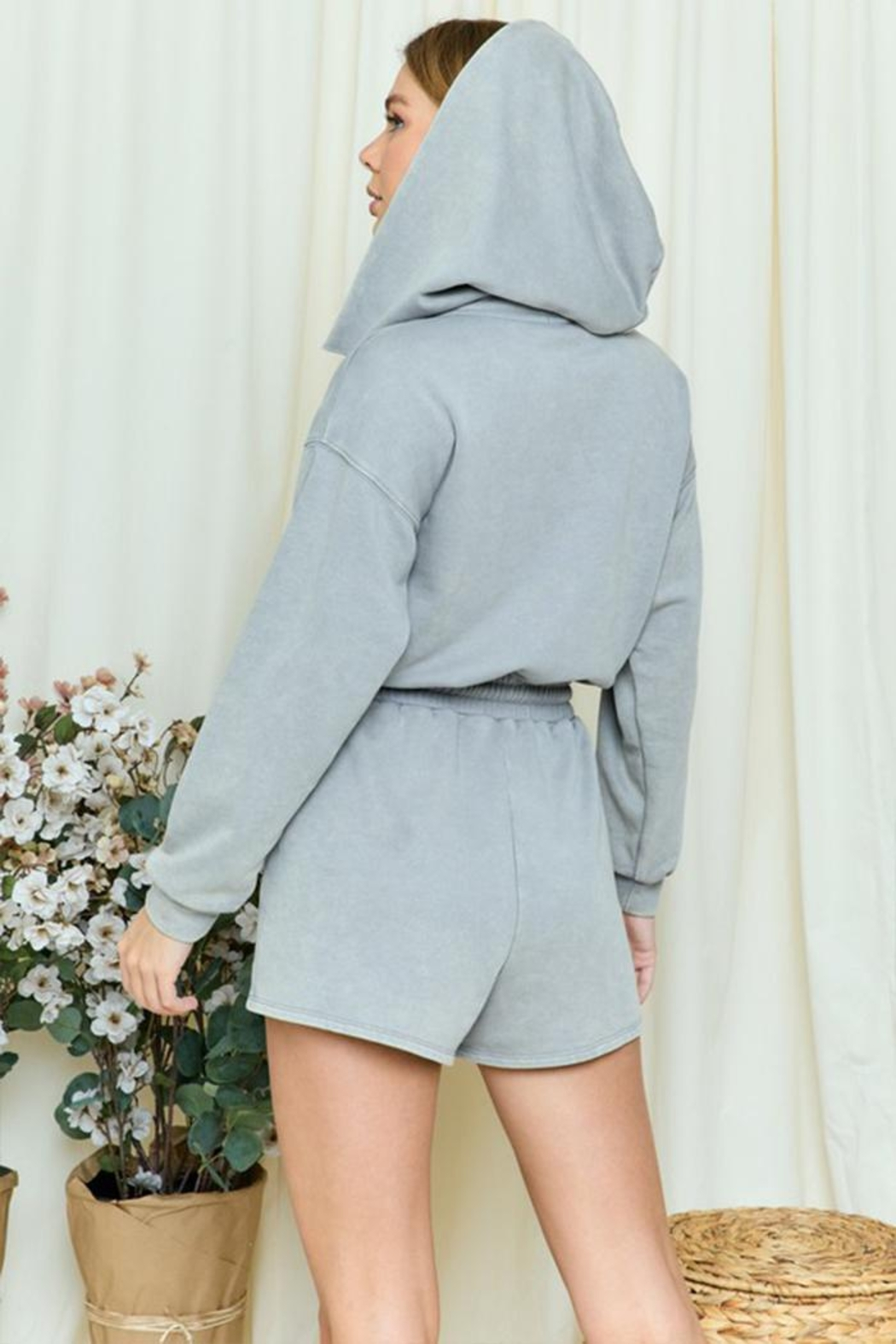 day and night Hooded Romper - Side Cropped Image