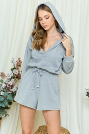 day and night Hooded Romper - Front cropped