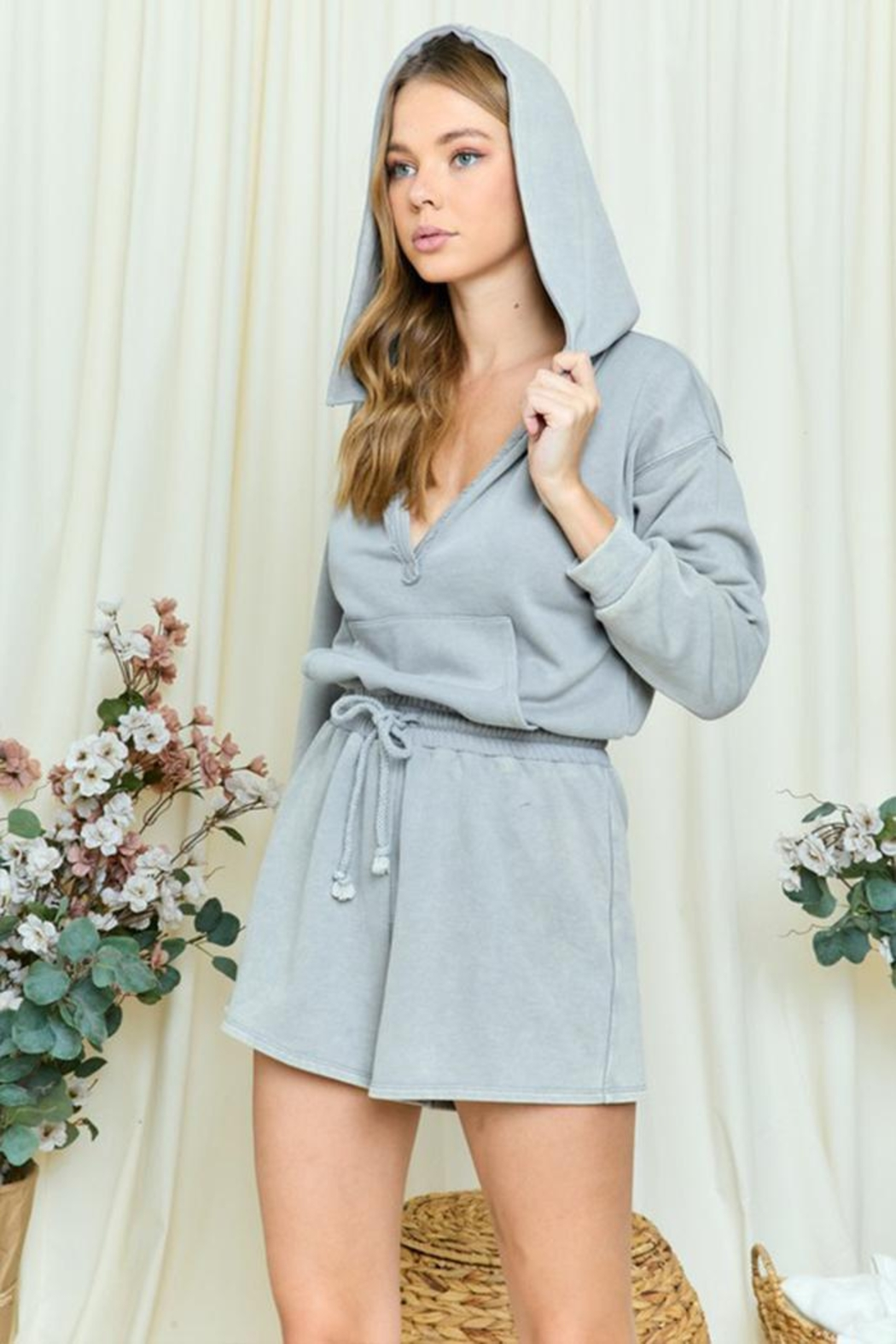 day and night Hooded Romper - Front Full Image